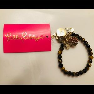 Lilly Pulitzer Tigers eye charm bracelet